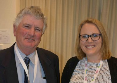 SA Cattle Advisory Group chair Lyndon Cleggett, Glencoe, with PIRSA Biosecurity SA's Casey Work.