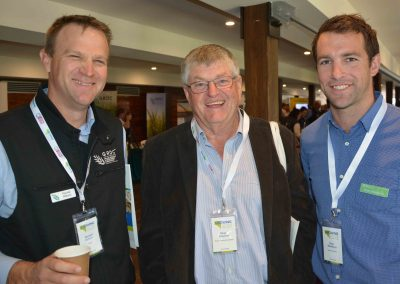 GRDC's Randall Wilksch with GPSA Directors Peter Cousins, Crystal Brook, and Dion Woolford, Kimba.