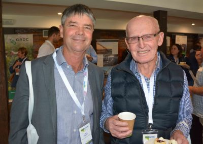SA Sheep Industry Blueprint Chairman Allan Piggott and Rob Smyth.