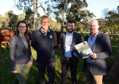 Livestock SA's Penny Schulz and Joe Keynes with South Australian Beef Industry Blueprint manager Stephen Lee and Blueprint working group chair Bruce Creek.