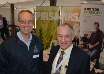 PIRSA Biosecurity SA's Andrew Ewers with former SA Chief Veterinary Officer Roger Paskin.