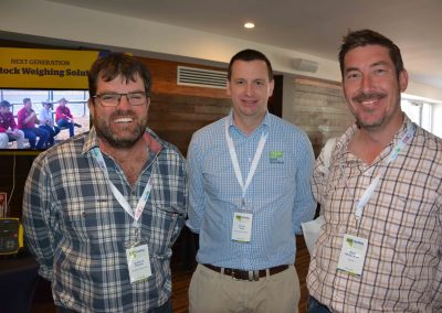 Anthony Pfitzner, Eudunda, Rural Directions' Simon Vogt and Paul McGorman, Sanderston.