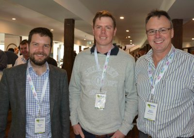 Blueprint Manager Stephen Lee with Brad Bateman and the University of Adelaide's Wayne Pitchford.