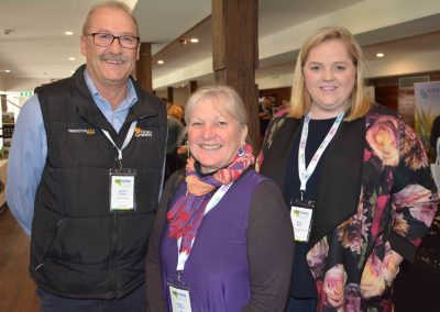 GrainGrowers Ltd's David Evans with MLA's Merri Tothill and MFMG's Meg Bell.