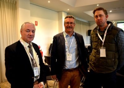 PIRSA chief veterinarian Dr Roger Paskin, Biosecurity SA executive director Will Zacharin and Jason Schulz, Field.