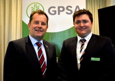 Minister for Primary Industries and Regional Development Tim Whetstone and GPSA Chair Wade Dabinett.