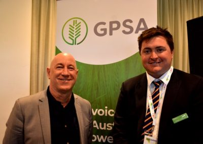 Shadow Minister for Primary Industries and Regional Development Eddie Hughes and GPSA chair Wade Dabinett.