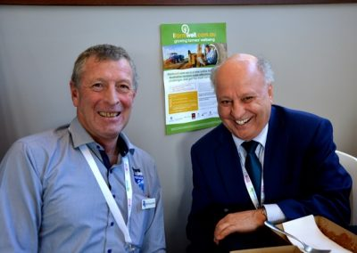 Livestock SA board member Bill Nosworthy, Sheringa, and Mediation & Employment Relations Services' Chas Cini.