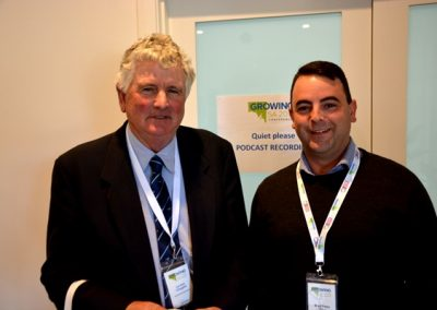 SA Cattle Advisory Group chair Lyndon Cleggett, Glencoe, and adviser to the Minister for Primary Industries and Regional Development Brad Perry.