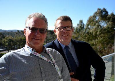 Retiring GPSA directors Garry Hansen, Coomandook, and Stephen Ball, Riverton.