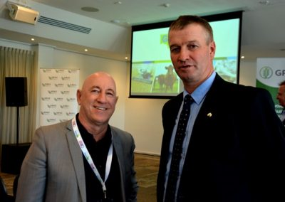 Shadow Minister for Primary Industries and Regional Development Eddie Hughes and Grain Producers Australia chair Andrew Weidemann, Rupanyup, Victoria.