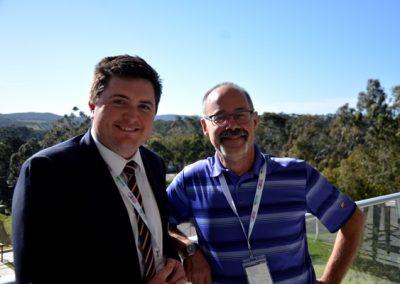 GPSA chair Wade Dabinett with Dr Stuart Smyth, University of Saskatchewan, Canada.