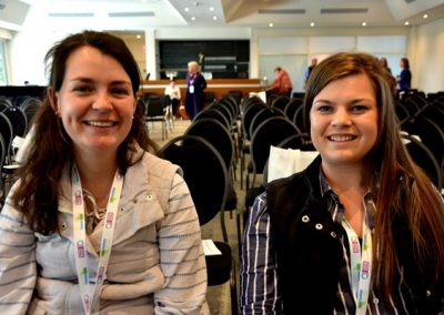 University of Adelaide Agricultrual Science students Bethany Sleep and Rebekah Starick.