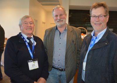 SA Wild Dog Board Chair Geoff Power, Livestock SA's John Elferink and Livestock SA President Joe Keynes.