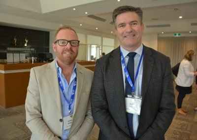 Aus Agribusiness Executive Manager Andrew Hannon with Rural Business Support Chief Executive Officer Brett Smith.