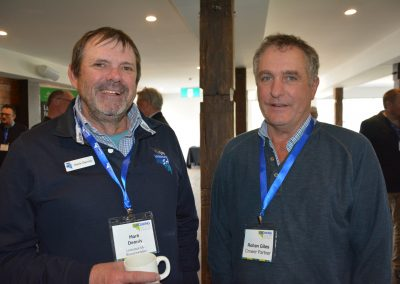 Livestock SA Board Member Mark Dennis and producer Rohan Giles, Crower Partners