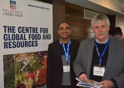 The University of Adelaide's The Centre for Global Food and Resources' Rohan Yargop and University of Adelaide (School of Animal and Veterinary Sciences) Externally Funded Research Fellow Forbes Brien.