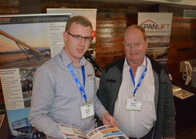 Spanlift Australia Building Consultant Charles Grace with Livestock SA Board Member Richard Reedy.