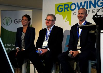Panel session with Farmers2Founders' Sarah Nolet, Telstra's Mark